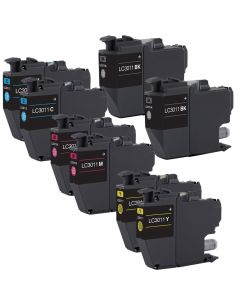 Compatible Set of 9 Ink Cartridges for Brother LC3011: 3 Black and 2 each Magenta, Cyan, Yellow Cartridges