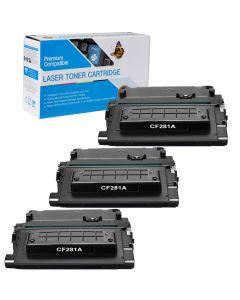 Compatible HP 81A Toner Cartridges - 3 pack