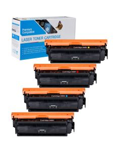 Compatible Canon 040H Set of 4 Toners: 1 each Black, Cyan, Magenta, Yellow