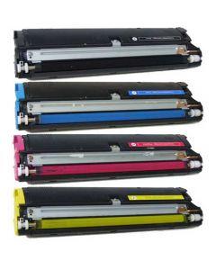 Compatible Set of 4 Konica Minolta 1710517-005, 1710517-006, 1710517-007, 1710517-008 Color Toner Cartridge