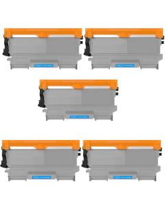 Compatible Brother TN450 Toner Cartridges - 5 pack