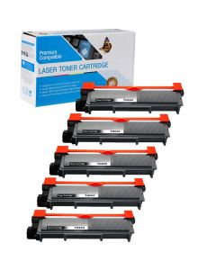 Compatible Brother TN630 Toner Cartridges - 5 pack