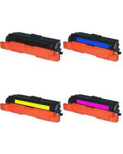 Compatible HP 647A, 648A Toner Cartridge Set: Black, Cyan, Magenta, Yellow