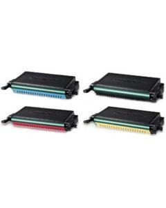 Set of 4 Compatible Samsung Toner Cartridges CLP-K660B, CLP-C660B, CLP-Y660B, CLP-M660B