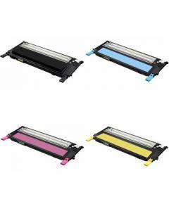 Set of 4 Compatible Samsung Toner Cartridges CLT-K409S, CLT-C409S, CLT-Y409S, CLT-M409S