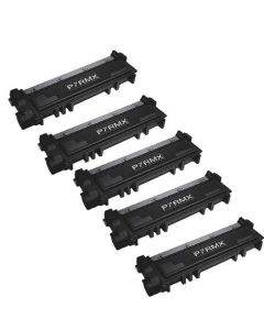 Compatible Dell 593-BBKD (P7RMX) Toner Cartridge 5 pack for Dell E310/514dw/515dw Printers