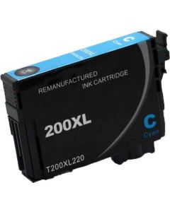 KLM Remanufactured Epson T200XL Cyan High Yield Ink Cartridge (T200XL220)
