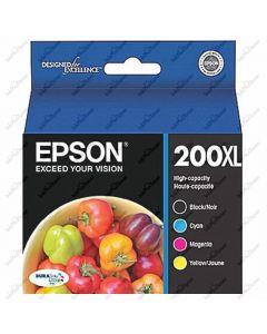 Epson T200XL Genuine Cartridges: Black, Cyan, Magenta, Yellow