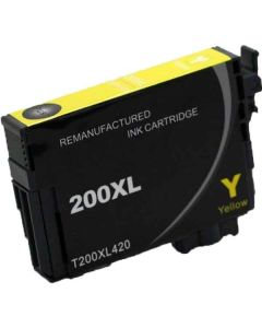 KLM Remanufactured Epson T200XL Yellow High Yield Ink Cartridge (T200XL420)