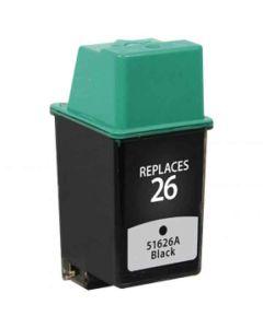 KLM Remanufactured HP 26 Black Ink Cartridge (51626A)