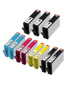 Set of 11 KLM Remanufactured HP 564XL Ink Cartridges - 3 Black and 2 Each Cyan, Magenta, Yellow, Photo Black