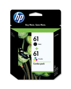 Set of 2 Genuine HP 61 Ink Cartridges Black and Color
