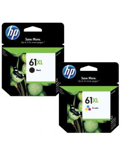 HP 61XL Combo Pack Black and Tri-Color Genuine Ink Cartridges