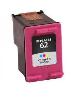 KLM Remanufactured HP 62 Tri-color Ink Cartridge (C2P06AN)