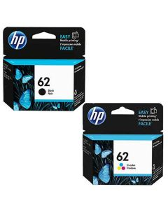 Set of 2 Genuine HP 62 Ink Cartridges Black and Color