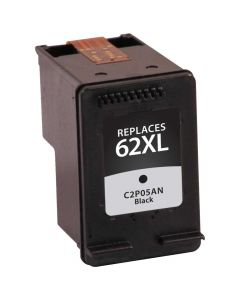 KLM Remanufactured HP 62XL Black Ink Cartridge High-Yield (C2P05AN)