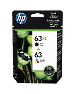 Genuine HP 63XL Black and HP 63 Color Combo Pack Ink Cartridges