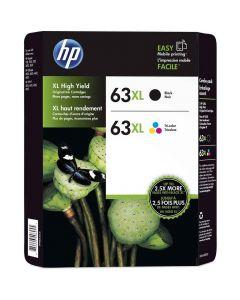Genuine HP 63XL Black/Color Combo Ink Cartridges, 2 pk
