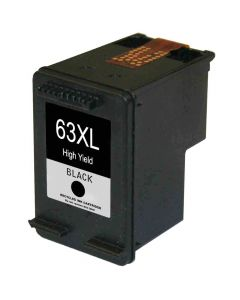 KLM Remanufactured HP 63XL Black Ink Cartridge