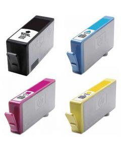 Compatible HP Ink Cartridges 920XL Set of 4: 1 each Black, Cyan, Magenta & Yellow