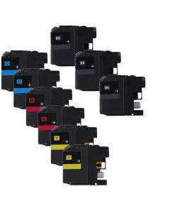 Compatible Set of 9 for Brother LC101: 3 Black and 2 each Magenta, Cyan, Yellow Cartridges