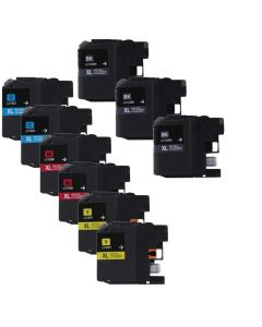 Compatible Set of 9 for Brother LC103: 3 Black and 2 each Magenta, Cyan, Yellow Cartridges