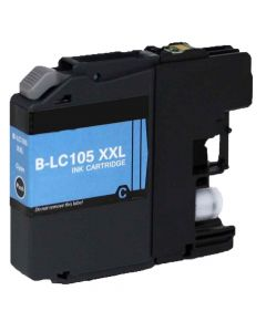 Compatible Brother LC105C Cyan Ink Cartridge Super High Yield