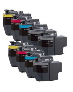 Compatible Set of 9 for Brother LC3019: 3 Black and 2 each Magenta, Cyan, Yellow Cartridges