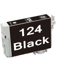 KLM Remanufactured Epson T124 Black Ink Cartridge (T124120)