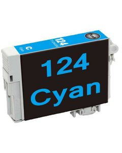 KLM Remanufactured Epson T124 Cyan Ink Cartridge (T124220)