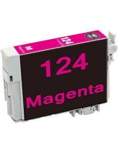 KLM Remanufactured Epson T124 Magenta Ink Cartridge (T124320)