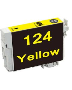 KLM Remanufactured Epson T124 Yellow Ink Cartridge (T124420)
