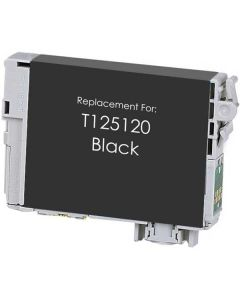 KLM Remanufactured Epson T125 Black Ink Cartridge (T125120)