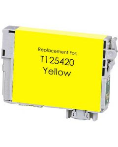 KLM Remanufactured Epson T125 Yellow Ink Cartridge (T125420)