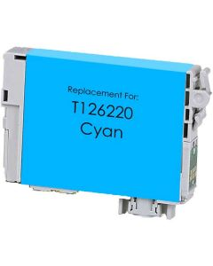 KLM Remanufactured Epson T126 Cyan Ink Cartridge (T126220)