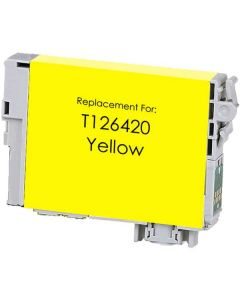 KLM Remanufactured Epson T126 Yellow Ink Cartridge (T126420)