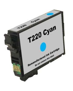 KLM Remanufactured Epson T220 Cyan Ink Cartridge (T220220)