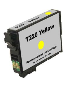 KLM Remanufactured Epson T220 Yellow Ink Cartridge (T220420)