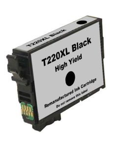 Remanufactured Epson T220XL Black High Yield Ink Cartridge (T220XL120)