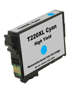 KLM Remanufactured Epson T220XL Cyan High Yield Ink Cartridge (T220XL220)