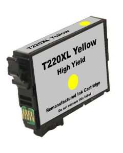 KLM Remanufactured Epson T220XL Yellow High Yield Ink Cartridge (T220XL420)