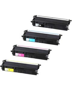 Compatible Brother TN436 Set of 4 Toners: 1 each Black, Cyan, Magenta, Yellow